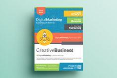 Creative Corporate Flyer V22 by KhidD on Creative Market
