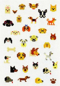 Dogs, stitched. For Embroidery.