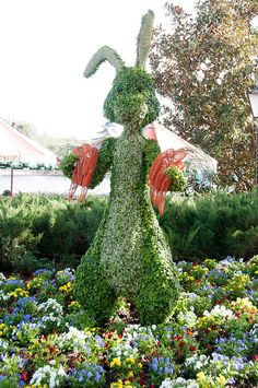 Disney Topiaries, via Flickr.