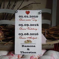 Shabby Chic Holzschild - Hochzeits-ShabbySchild
