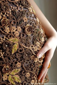 Letras e Artes da Lalá: Crochê irlandês-Irish Lace: blusas e vestidos sem receita (by pinterest