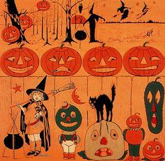 Veggie People Vintage Halloween Crepe Paper style inspiration. Please choose vegan art supplies