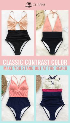 Dazzled by mixed & colorful beach wears? Why not reverse your beach choice and slip in a brief style bikini? Combo with contrast color, shows your internal energy and girl's power~ Free shipping & shop now!