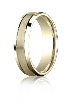 Elegant ~ 10k Yellow Gold Wedding Band Ring, Comfort Fit Beveled Edge, 6mm wide. Lifetime Guarantee. All sizes available: http://bit.ly/1jFPLem
