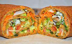 Wrap de masa de lentejas con vegetales Delicious Vegan Recipes, Raw Food Recipes, Veggie Recipes, Mexican Food Recipes, Vegetarian Recipes, Cooking Recipes, Healthy Recipes, Cocina Natural, Batch Cooking