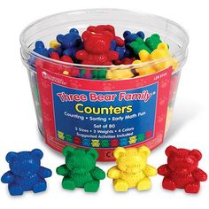 Learning Resources Three Bear Family Counters, 80 Pieces