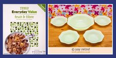 Vintage Dishes and a review of Tesco Value Fruit & Fibre! - Retro and Vintage China, Glassware and Kitchenalia - yay retro!