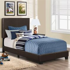 Monarch Specialties I 591 Upholstered Bed