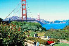 Golden Gate Bridge and Crissy Field, San Francisco, California