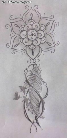 Diseño de bast Atrapasueños, Mándalas En ZonaTattoos, tu web de tatuajes