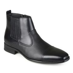 Vance Co. Alex Men's Cap-Toe Dress Boots, Size: 10.5, Black