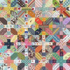 LOVE this Japanese + and x quilt. Really want to make one