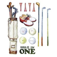 vintage golf stickers Hobby Lobby