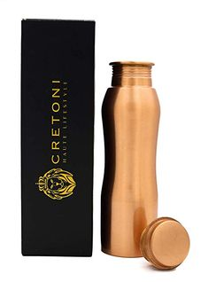 Buy Cretoni Copperlin Pure Copper Water Bottle : Curved Seemless Leak Proof Design : Perfect Ayurvedic Copper Vessel for Sports, Fitness, Yoga, Natural Health Benefits Ounce) Copper Vessel, Copper Mugs, Pure Copper, Copper Benefits, Ayurvedic Healing, Copper Moscow Mule Mugs, Copper Kitchen, Drinking Water, Natural Health
