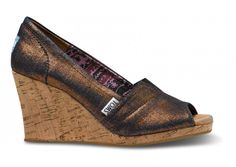 Toms Copper Wedges. Love, love, love, want, love.