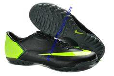 wholesale dealer cd138 a6ccc Nike Mercurial Vapor X TF Boots - Black Fluorescent Green Soccer Shoes On  Sale Cheap Soccer