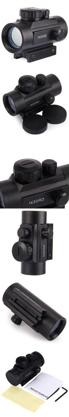 Guns / Hunting Supplies   Red Green Dot Holographic Riflescope Sight 1 x 30RD $14.21