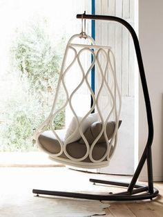 Rattan #garden Swing Seat NÁUTICA by EXPORMIM | #design MUT Design #outdoor #summer