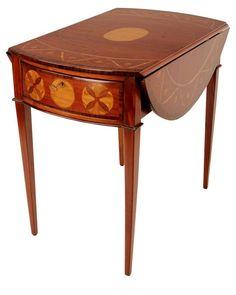 "Marcus 20"" Drop-Leaf Table, Mahogany"