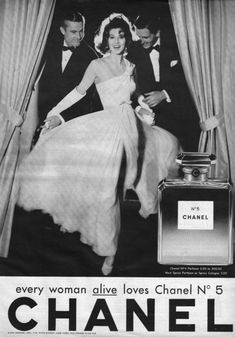 Chanel No 5 ad, ca. 1960s