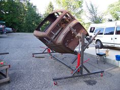 An auto rotisserie, or at least an auto body cart will be the single most cherished tool In your garage. For a frame off auto restoration job, it can be a life saver, or at the very least a real back saver. For the average guy who is about to take...