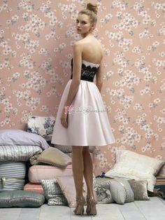 Herzförmig kurz Brautjungfer Kleid