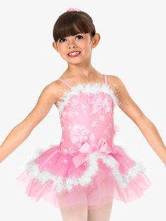 zoom Satin Bows, Pink Satin, Ballet Shows, Toddler Dance, Fur Trim, Dance Costumes, Dance Wear, Fabric Flowers, Tutus
