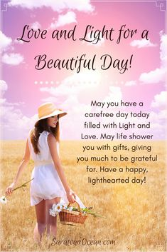 I'm sending you Love and Light for a beautiful, carefree day. Good Morning Thursday, Good Morning Wishes, Morning Messages, Happy Thursday, Good Morning Quotes, Love And Light Quotes, Sending Love And Light, Peace And Love, Happy Birthday Messages