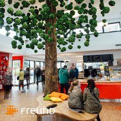 Artificial cork #tree made of 650 hanging mossmix spheres, for FertighausWelt Günzburg  (Photo: BDF) . . Künstlich kreierter Baum aus Korkrinde und 650 hängenden Mossmix-Kugeln, für FertighausWelt Günzburg (Foto: BDF).