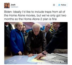 """refinery29: """" Excuse me but you're going to have to check out these memes of Joe Biden plotting booby traps in the White House before Trump takes office Enough said. """""""