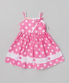 Pink Polka Dot Dress -