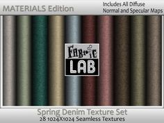 Seamless Spring Denim Texture Collection Materials Edition With normal and specular Maps  Artist Resources by www.fabriclab.org