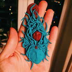 Aquatic Motherhood Psychedelic Polymer Clay Pendant by PIMN on Etsy