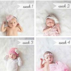 Each week take a photo and see how much they change from week to week