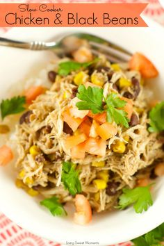 Slow Cooker Chicken And Black Beans - Delicious chicken is slow cooked ...