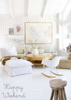 Loads of white with a touch of wood.  Me likey