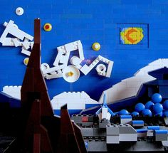 Also do recreation of famous pieces of art but start simple like Mondrain lines an blocks of color.    Lego Starry Night
