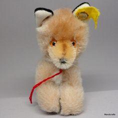 Steiff Fuzzy #Fox Woven Fur & Mohair Plush 10cm 4in ID Button Tag 1978 -85 Vtg #Steiff AllOccasion