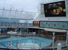 princess cruise on caribbean princess... watched movies under the stars..