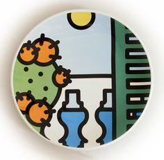 Piatto decorativo artigianale in maiolica - Diametro cm 30