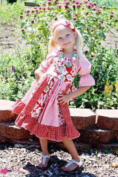 Jewel's Stripwork Dress PDF Pattern Now size 6m to size 8