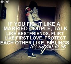 Meant to be... marriage advice.
