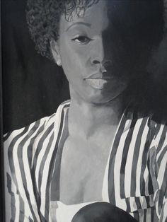 portret myrtha acryl op paneel 85 x 11o cm. Geschilderd op paneel met acrylverf