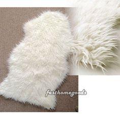 Ikea Tejn Faux Sheepskin Rug Throw White Push Soft And Cozy Warm NEW IKEA