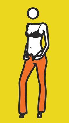 Julian Opie - Woman taking off jeans. 7