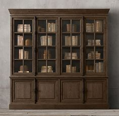 Living Room Bookcase 2 // French Casement 4-Door Sideboard & Hutch