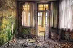 Urban Exploration, Abandoned, Forgotten, Rust, Decaying, Abandoned Places, Abandoned House, Abandoned Building Open Door by kleiner hobbit, via Flickr
