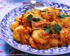 Christina Soong-Kroeger recreates her Grandmother's secret Sambal Udang recipe. By Christina Soong-Kroeger I do love a spicy seafood dish. This recip Prawn Recipes, Spicy Recipes, Curry Recipes, Fish Recipes, Seafood Recipes, Asian Recipes, Cooking Recipes, Ethnic Recipes, Chinese Recipes