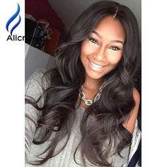 79.50$  Buy here - http://alio6v.worldwells.pw/go.php?t=32773558891 - Alicrown Glueless Full Lace Wigs 9A Unprocessed Lace Front Wig Full Lace Human Hair Wigs Brazilian Body Wave Wigs With Baby Hair