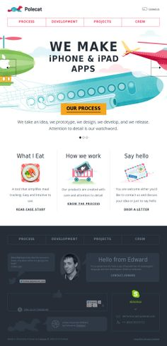 An example of good Illustrations and hand drawn elements in web design.